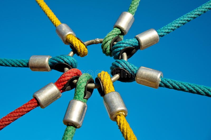 Rope links stock image. Image of strong, link, colours - 21192297