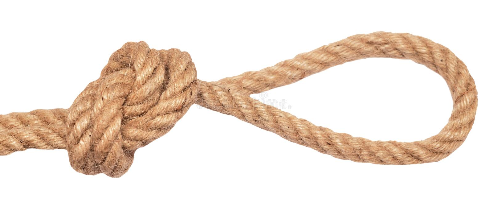 Rope with loop royalty free stock photos