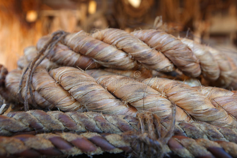 Rope Made From Natural Fibre Stock Photos