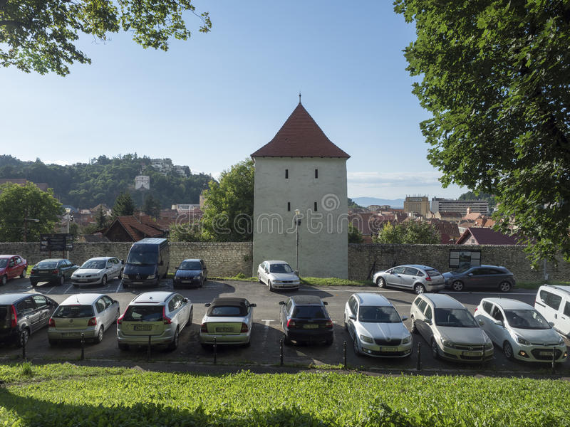 """Rope makers tower (""""Turnul Funarilor"""") in Brasov, Romania royalty free stock photography"""