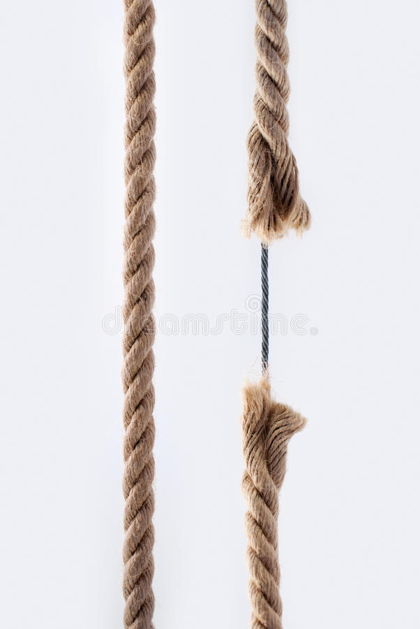 Rope with metal cable