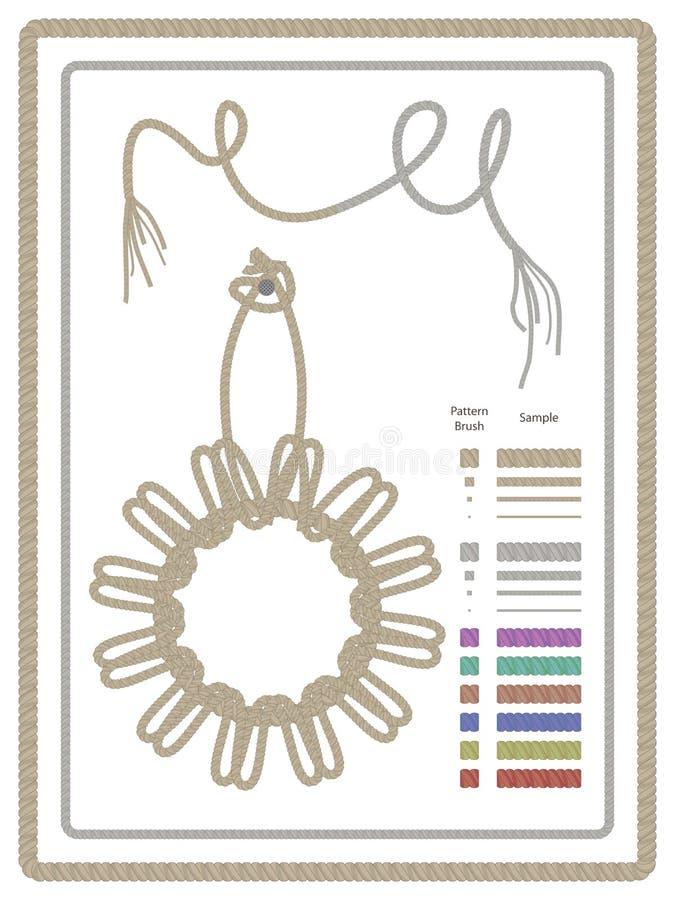 Rope Pattern Brush_eps royalty free illustration