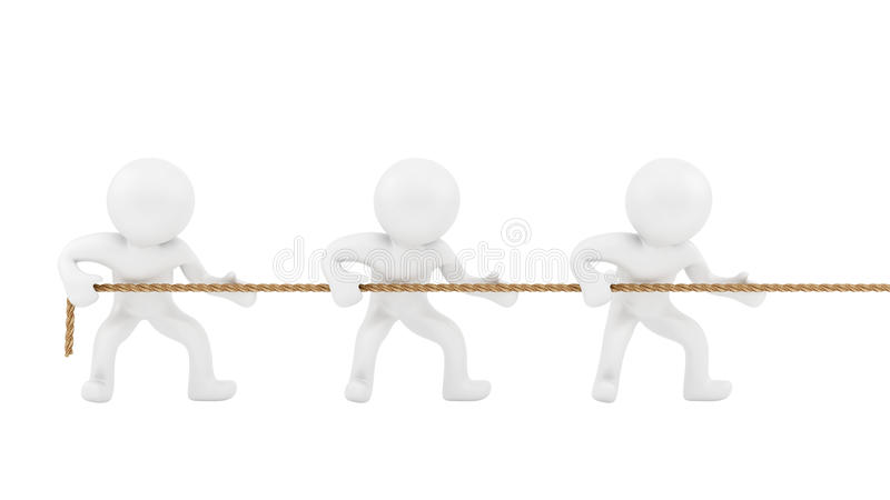 Download Rope pull stock illustration. Illustration of success - 24803336