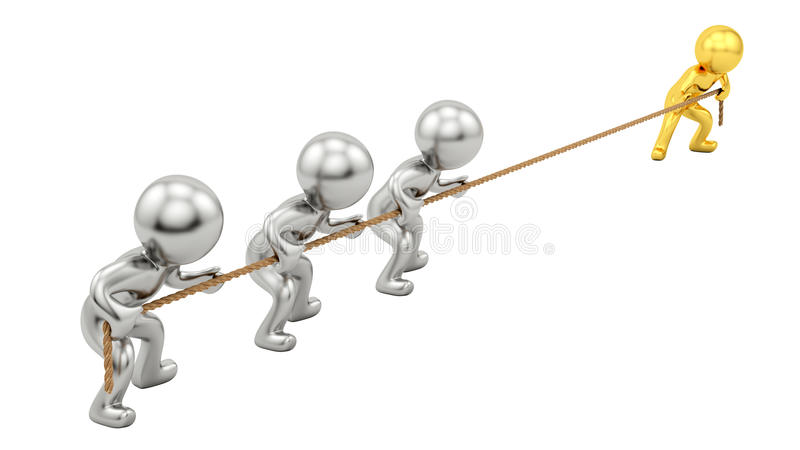 Download Rope pull stock illustration. Image of idea, human, render - 24803343