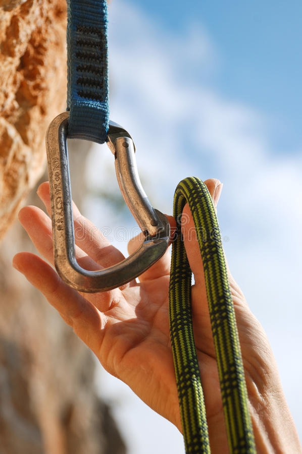 Download Rope and quick-draws stock photo. Image of mountaineering - 12116674