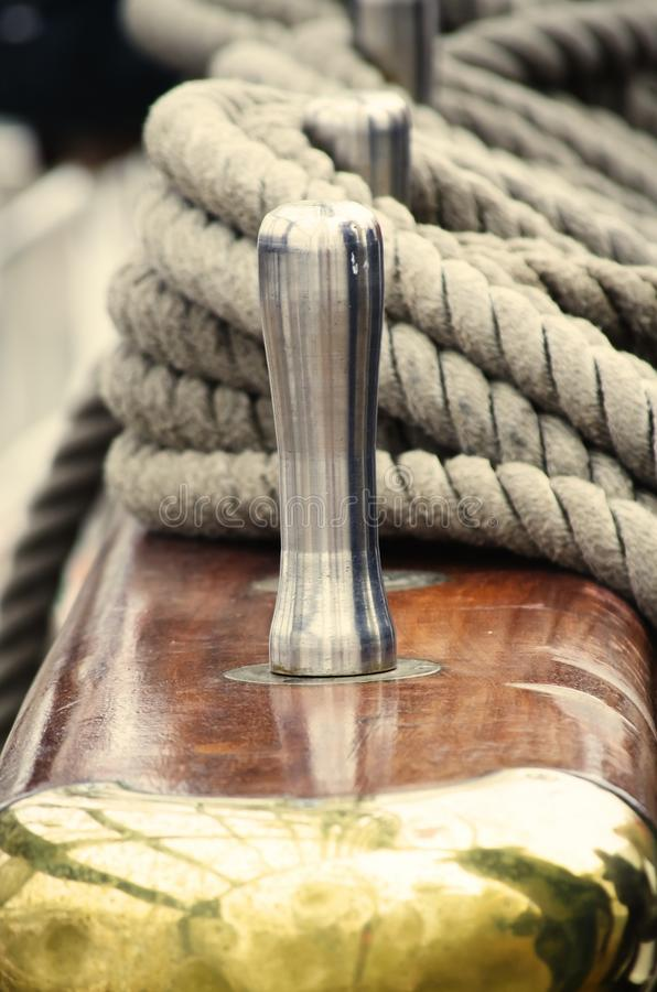 Rope on a Ship royalty free stock images