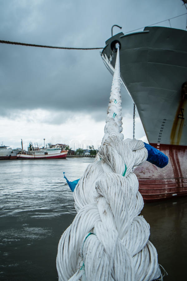 Rope with ship royalty free stock photos
