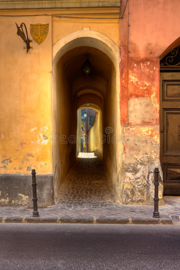 Rope street entrance stock images