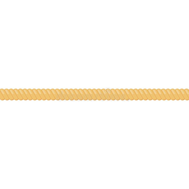Rope string vector illustration. Isolated on white background royalty free illustration