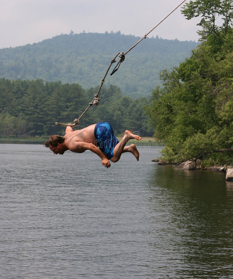 Rope Swing royalty free stock photo