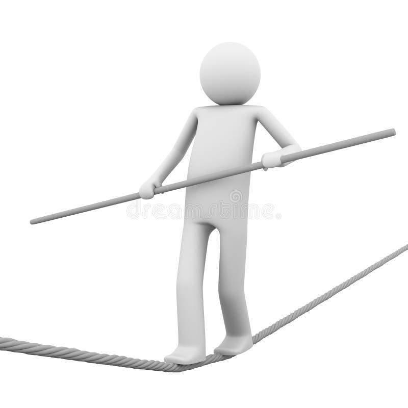 Rope-walker stock illustration