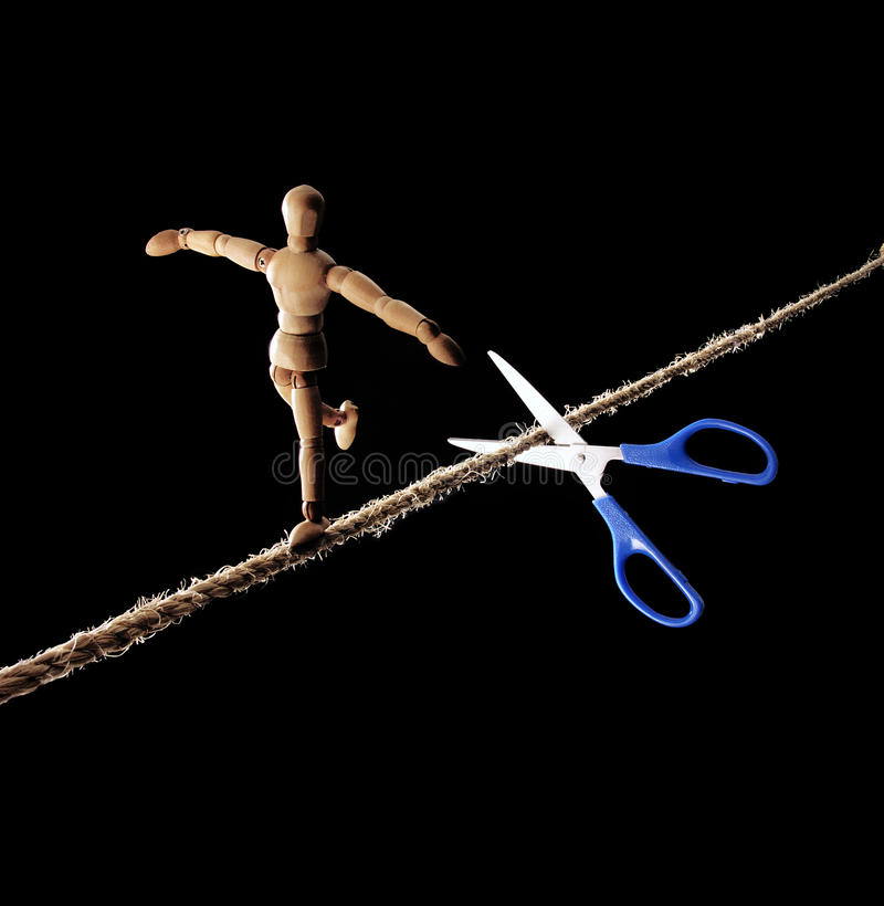 Download Rope Walker Risk. Royalty Free Stock Photos - Image: 28243008