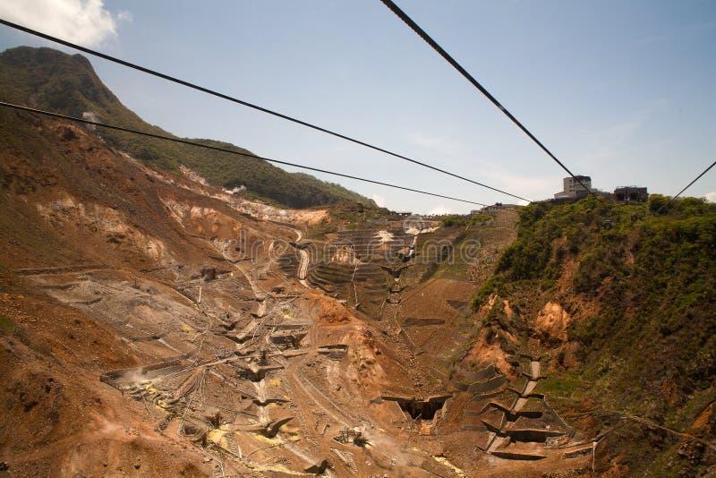 Download Rope Way Under Hot Springs In Hakone Stock Photo - Image: 14448908