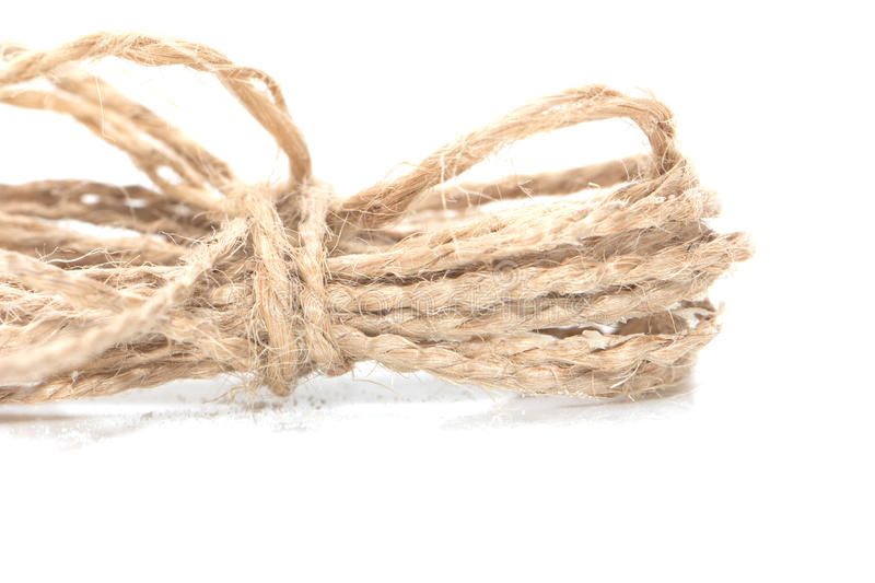 Rope. On a white background royalty free stock photography