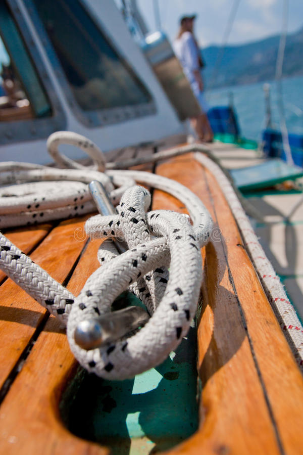 Download Rope Wound Around A Bollard Stock Photo - Image: 15229642