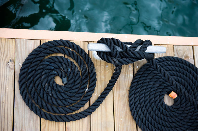 Rope of yacht