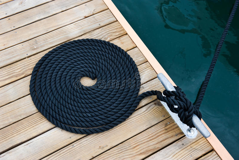 Download Rope of yacht stock photo. Image of post, rope, club - 14475302