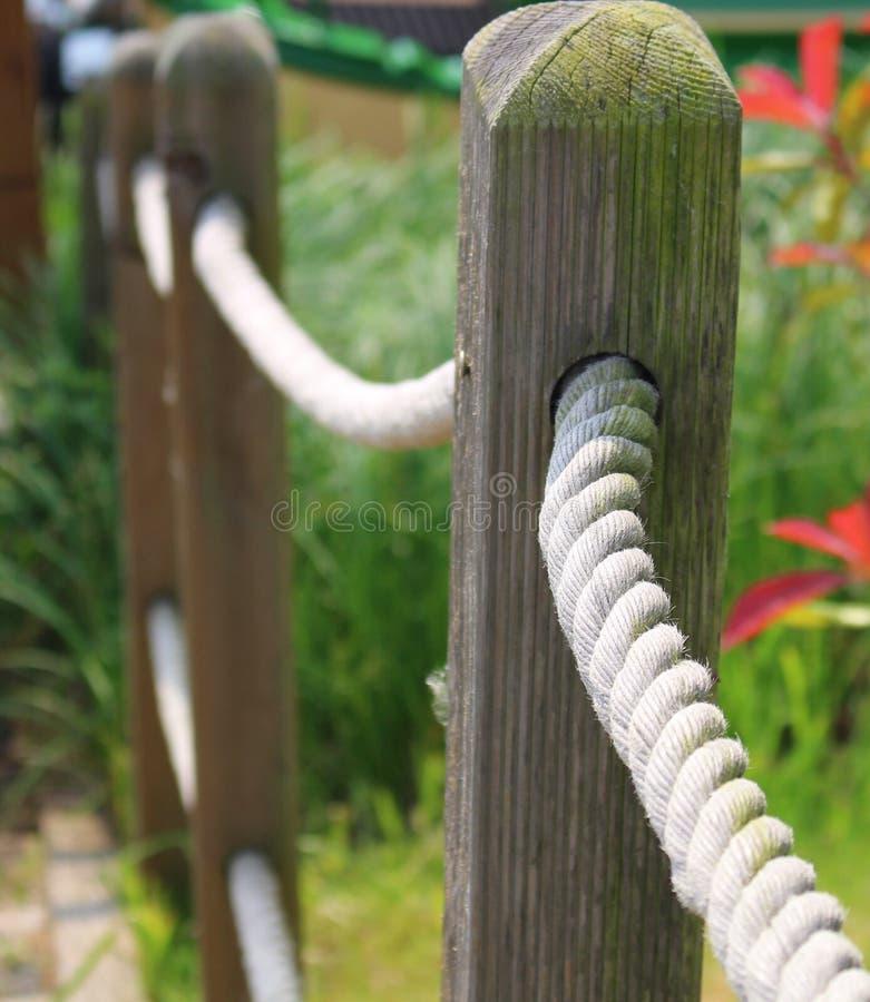 Roped загородка стоковая фотография rf