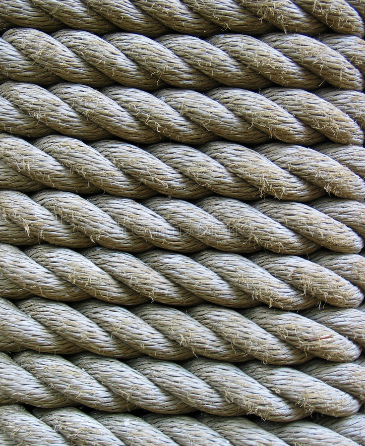 Ropes. Closeup of Manila Ropes stock images