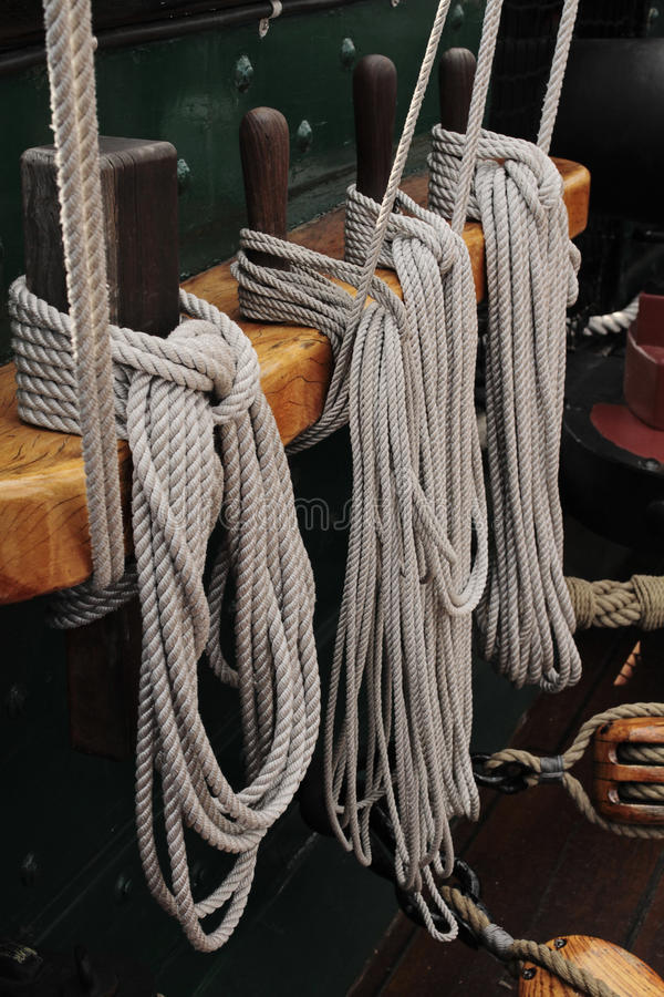 Ropes and blocks royalty free stock images