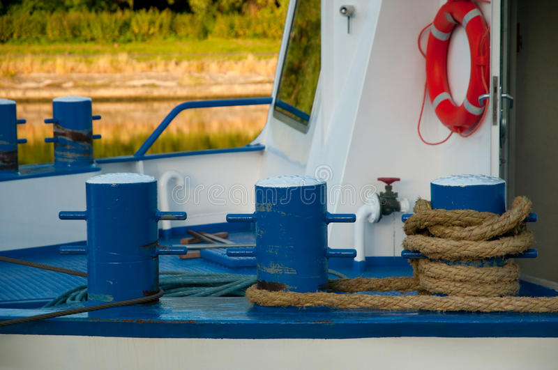 Download Ropes on the boat stock photo. Image of buoy, sisal, metal - 9868850