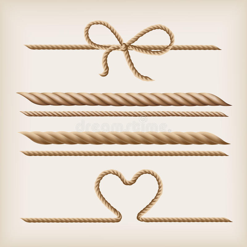 Download Ropes and bow stock vector. Illustration of knot, sisal - 27395961