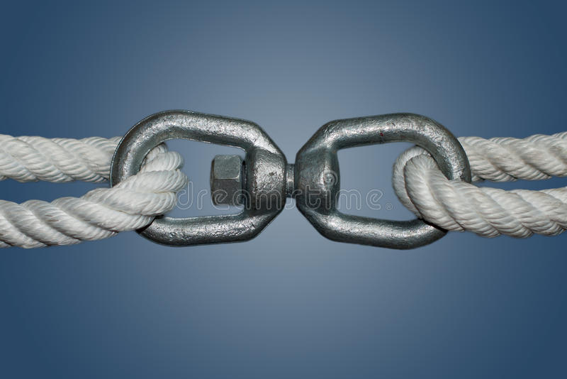 Download Ropes With Double Eye Swivel Stock Image - Image of swivel, mariner: 39500473