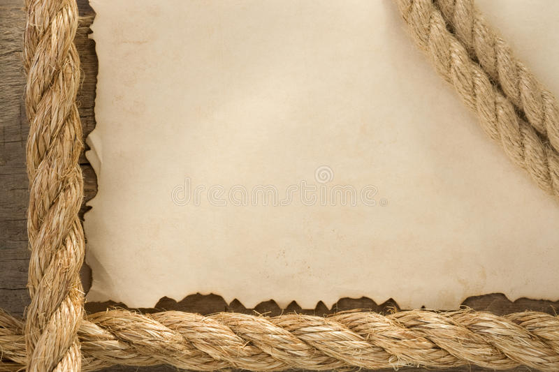 Download Ropes On Old Vintage Ancient Paper Backgroun Stock Photo - Image: 25194626