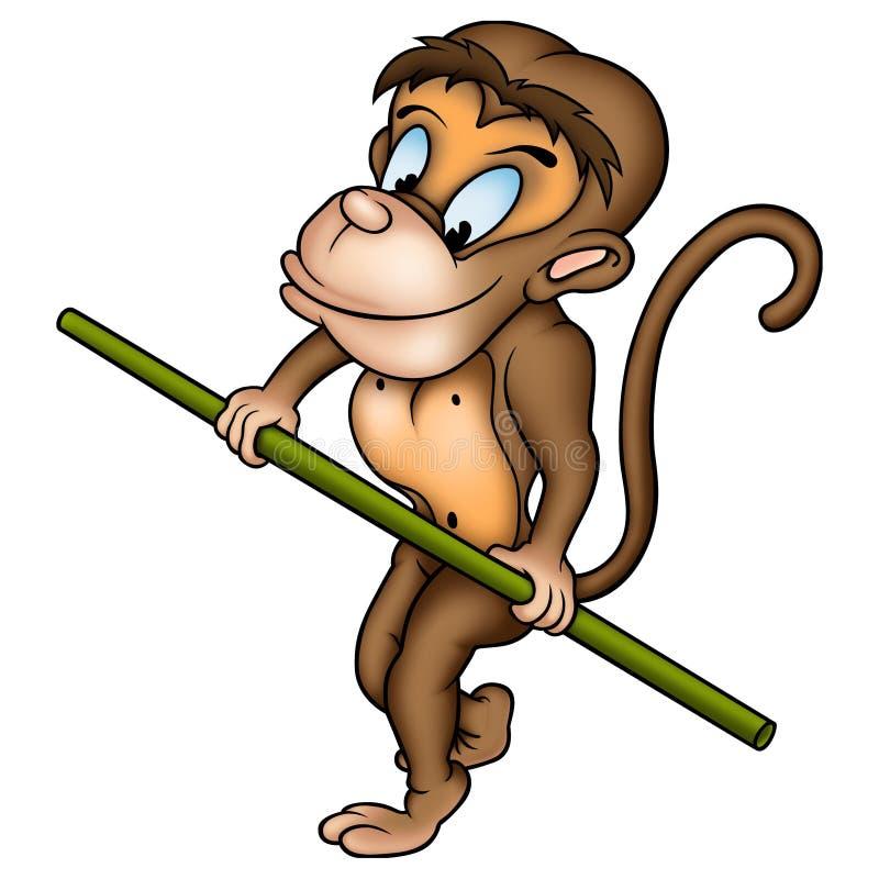 Ropewalker do macaco ilustração royalty free