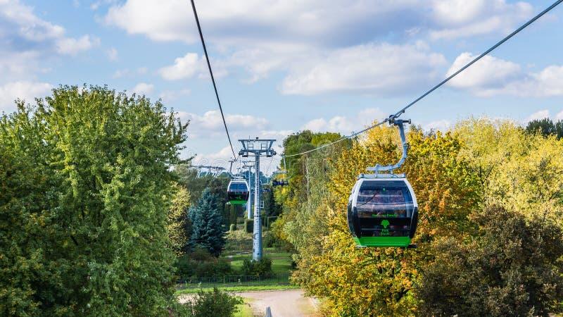 Ropeway в парке Силезии стоковое фото rf