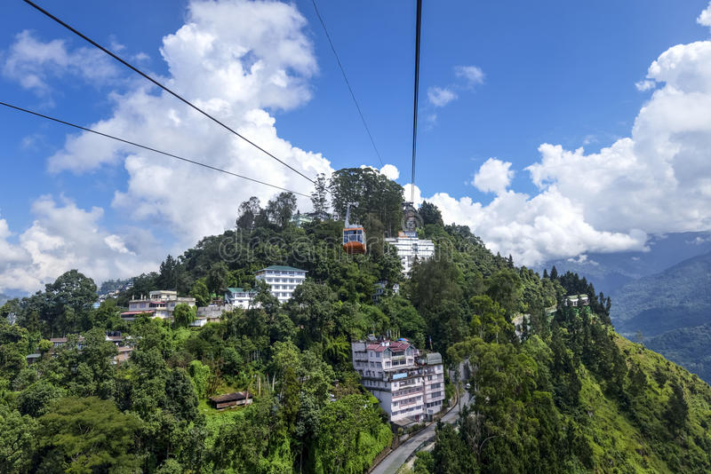 Ropeway ride. This was shot in gangtok city from ropeway ride royalty free stock photos