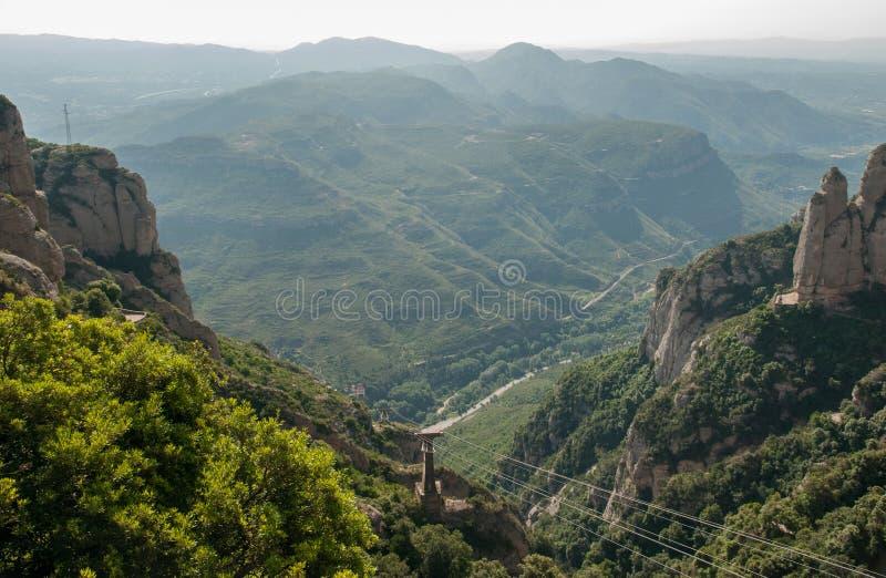 Ropeway a Montserrat Abbey imagens de stock royalty free