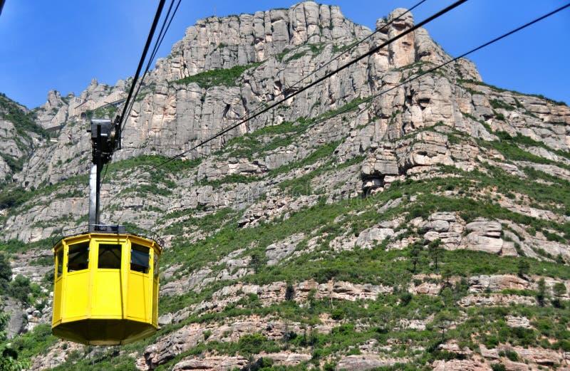 Ropeway na halnym Montserrat obraz stock