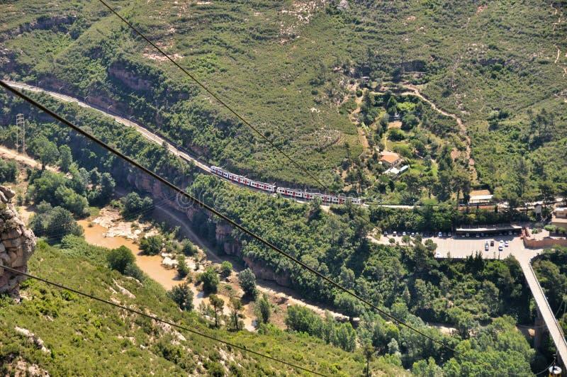 Ropeway na halnym Montserrat fotografia royalty free