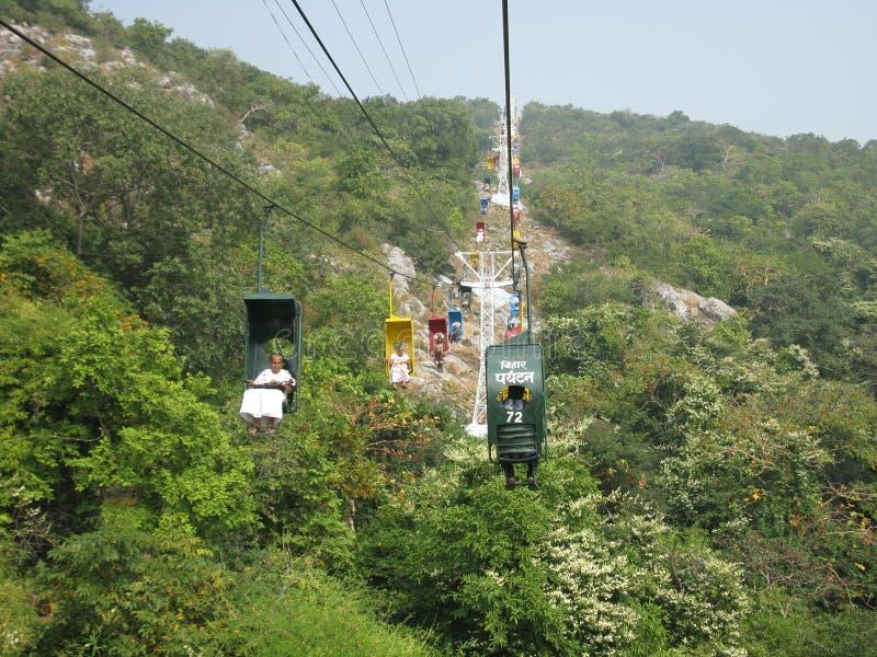 Ropeway in Rajgir, Bihar, India stock foto's
