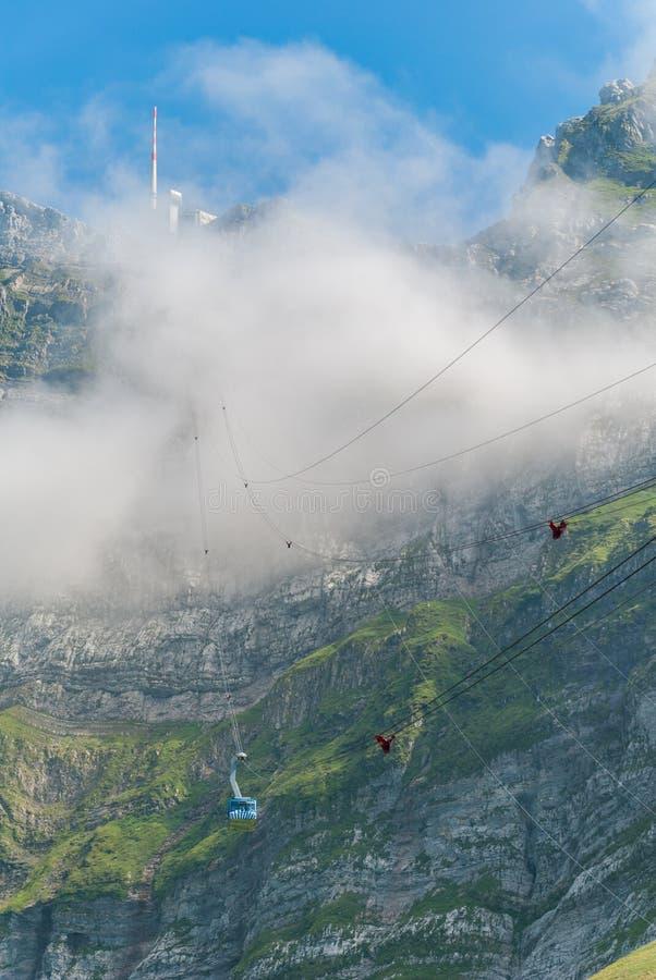 Ropeway Saentis, Schwaegalp - Швейцария стоковые фотографии rf