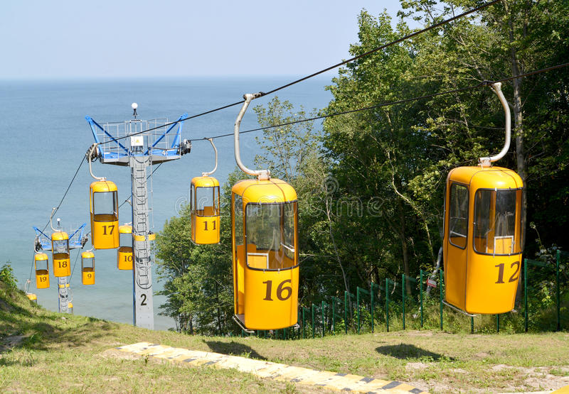 Ropeway in Svetlogorsk, Russia. Summer royalty free stock photo