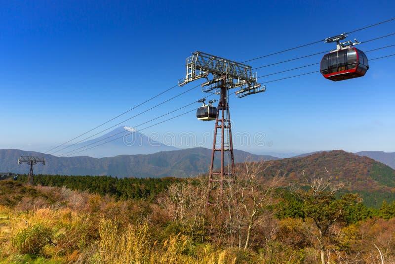 Ropeway till Mountet Fuji, Japan royaltyfri fotografi