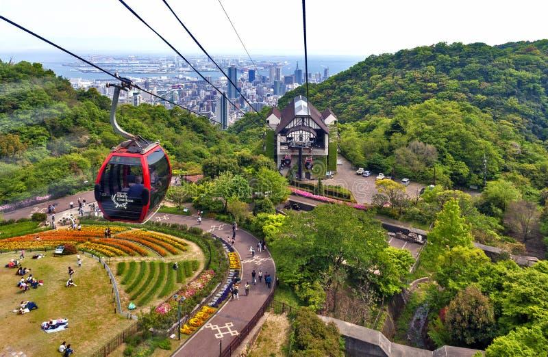 Ropeway To Nunobiki Herb Garden On Mount Rokko In Kobe Japan