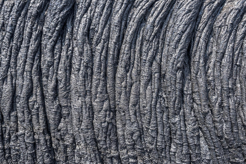 Ropey lava flow in Hawaii royalty free stock photos