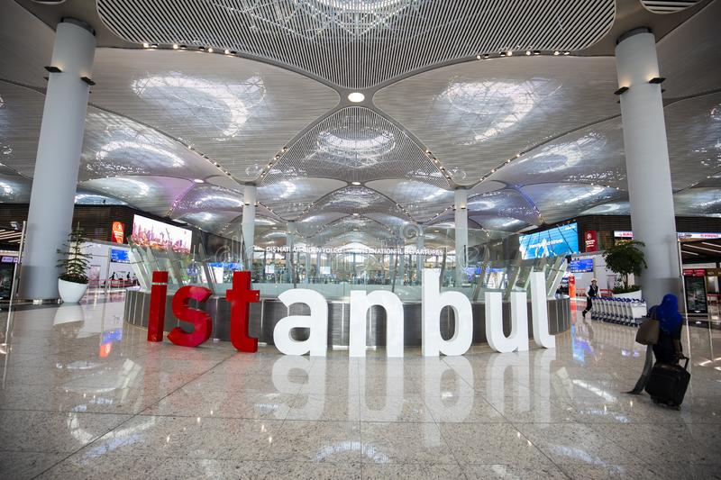 A?roport d'Istanbul images stock