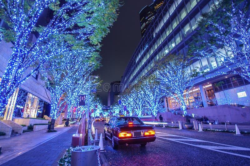 Roppongi Hills Keyakizaka Christmas Illumination. In Tokyo , Japan stock image