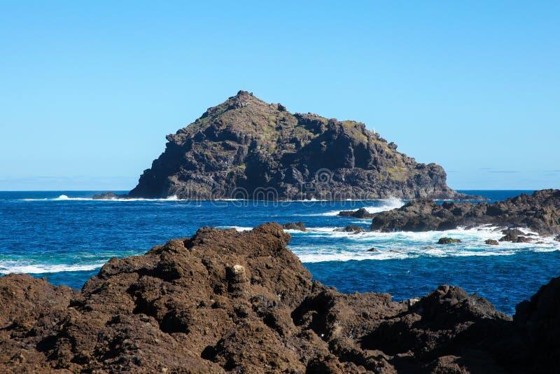 Roque在特内里费岛的de加拉奇科 免版税库存照片