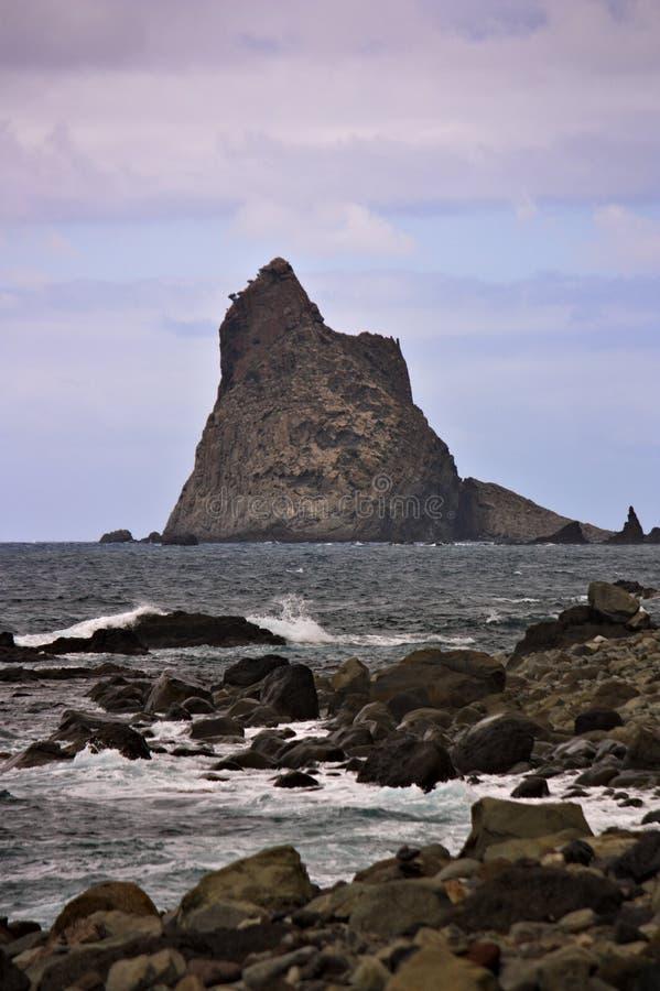 Roque Benijo da Taganana, Tenerife fotografia stock libera da diritti