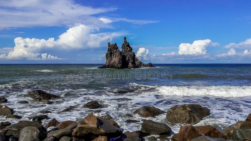 Roque Benijo - une mémoire de l'île de Ténérife images libres de droits
