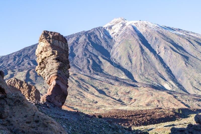 Roque Cinchado en Parque Nacional del Teide, Ténérife image libre de droits
