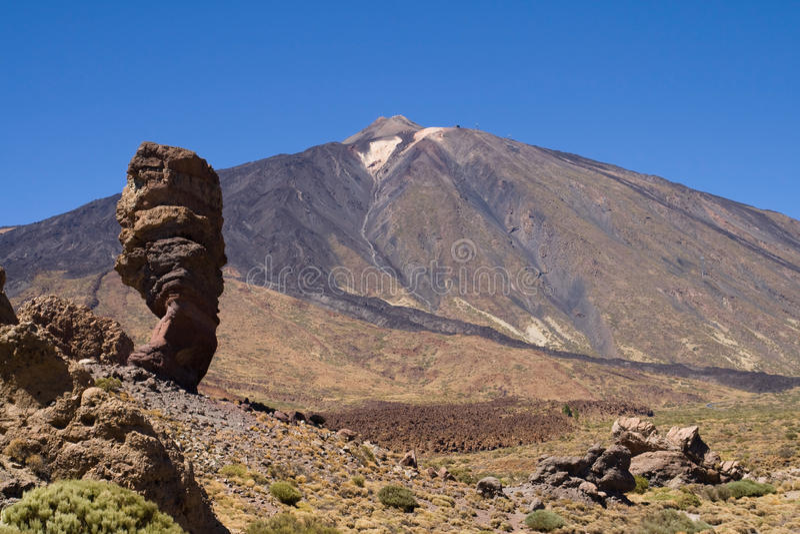 Download Roque Cinchado and Teide stock image. Image of canadas - 26587563