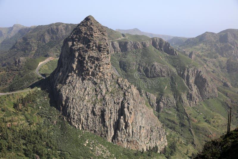 Roque de Agando in La Gomera. Canary Islands. Spain royalty free stock images