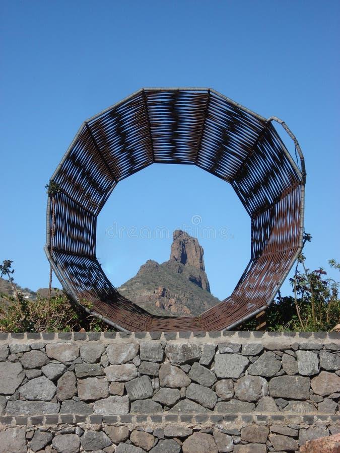 Roque de Bentayga,特赫达大加那利岛 库存图片