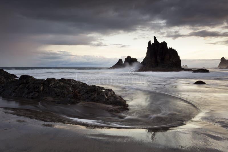 Roque de Las Bodegas immagini stock libere da diritti